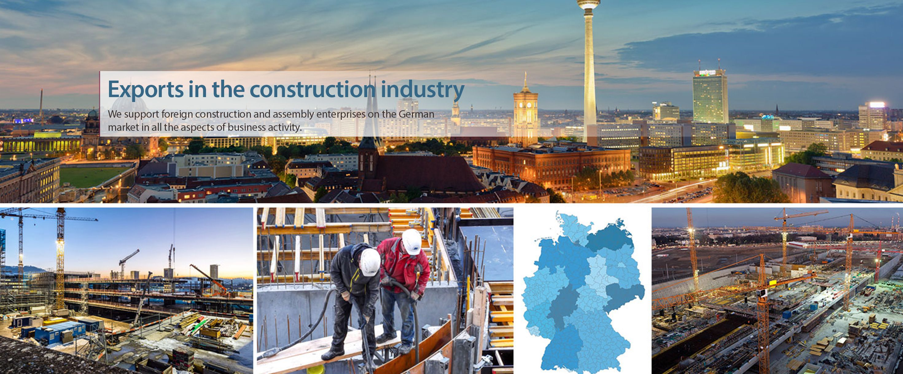 Exports in the construction industry