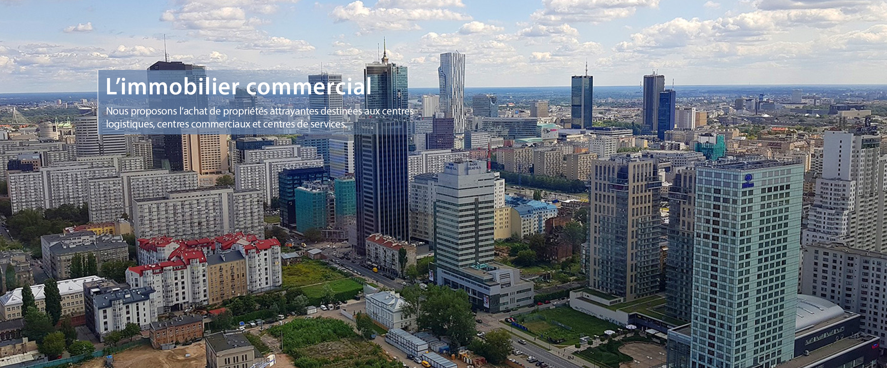 L'immobilier commercial